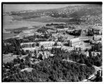 Aerial view of University of Washington campus, looking southeast, Seattle, 1946