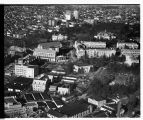 Aerial view of University of Washington campus, looking northeast, Seattle, 1948
