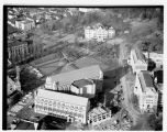 Aerial view of University of Washington central plaza, Seattle, 1948