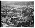 Aerial view of University of Washington campus, looking southwest, Seattle, 1948
