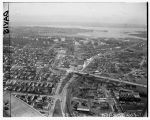 Aerial view of the University of Washington looking east, Seattle, 1949