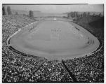 Aerial view of Husky Stadium during a football game, Seattle, September 29,1945