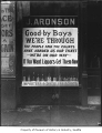 J. Aronson Liquor sign at start of Prohibition, Seattle, ca. 1916