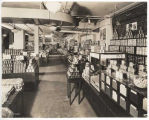 Interior of Rhodes Brothers Ten Cent Store showing canned goods, Seattle, ca. 1920