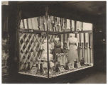 Display case with dresses and ribbons, Rhodes Brothers Ten Cent Store, Seattle, ca. 1910
