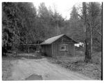 Vertical log house on the Tulalip Indian reservation, 1962