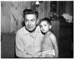 Reverend Adam Williams and his son Daryl, Marysville, 1961