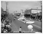 Pancake Festival parade float, White Center, August 11, 1956