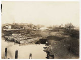 Panoramic view of Motorship Construction Company shipyard, Vancouver, Washington, ca. 1917