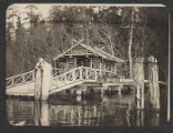 Beaux Arts Village gazebo on bridge, ca. 1910