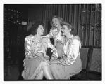 The Andrews Sisters backstage at the Orpheum Theatre, Seattle, June 12, 1946