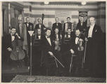 KIRO Gold Shield Coffee orchestra in studio, ca. 1940