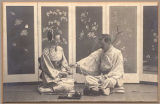 James and Mary Lowman in Japanese dress, Seattle, ca. 1900