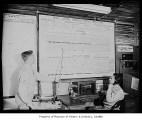Barrage balloon operations board, Seattle, 1943