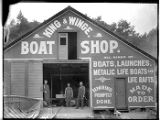 King and Winge Boat Shop, Seattle, ca. 1906