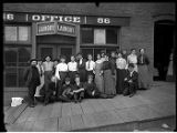 Employees in front of laundry, Seattle, ca. 1906