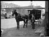Delivery wagon for Queen City Laundry, Seattle, ca. 1906