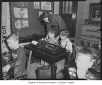 Typing class at Magnolia School, Seattle, February 27, 1947