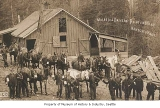 Mules and drivers at Renton Mine, Renton, ca. 1915