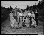 Seattle youth in raspberry field, Puyallup, August 1943