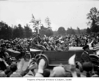 Charles Lindbergh in parade, Seattle, September 13, 1927