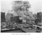 Fire at General Tire Co., Seattle, 1958
