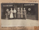 Women employees in front of Western Union Telegraph Office, Seattle, 1918