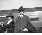 Vice President Calvin Coolidge and wife Grace, Seattle, ca. 1922