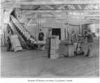 Virginia Street Dock warehouse interior, Seattle, ca. 1911