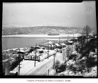 Lake Union partially covered in ice, Seattle, 1937