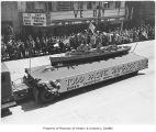 Todd Shipyards float in parade, Seattle, 1945