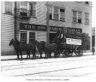 Bon Marche delivery wagon, Seattle, 1911