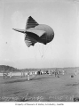 Barrage balloon, Seattle, 1942