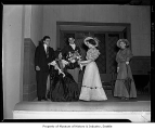 Showboat Theatre interior showing actors during a production, University of Washington, Seattle,...