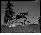 Janet Huston horse jumping, 1958