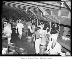 Internees working in kitchen at Camp Harmony, Puyallup, 1942