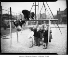 Children on playground at Seattle Day Nursery, Seattle, 1942