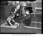 Lucille Engdahl working with deaf children, University of Washington Speech Clinic, Seattle, 1939