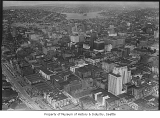 Aerial of downtown from south, Seattle, August 29, 1939