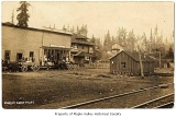 W.D. Gibbon Store and the Post Office, Maple Valley, ca. 1909