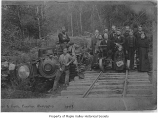 Engine off the track, near Hobart, 1893
