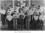 Maple Valley Grade School second and third grade boys in a skit, Maple Valley, 1929