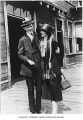 Emerald and Edith Wright at a railroad depot, July 12, 1922