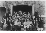 Tahoma High School band with director Frank Carroll, Maple Valley, 1937