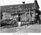 W.D. Gibbon store during construction of an addition, Maple Valley, ca. 1907