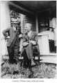 Hubert Peacock and Oscar Johnson outside a house, probably in Hobart, 1933