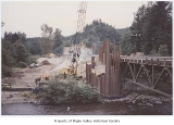 Bridge construction near Maple Valley Highway, view looking south, Maple Valley, ca. 1975