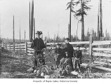Maple Valley-Hobart Cemetery during the burial of Charles Fenell, Maple Valley, 1900