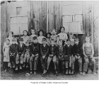 Hobart School students outside school in Hobart, ca. 1907