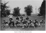 Tahoma High School football team on the field, Maple Valley, 1947